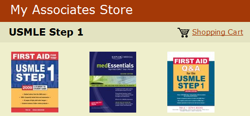 My Associates Store - USMLE Step 1_1242756098950